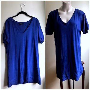 Express Short Sleeve Basic T-Shirt Dress Tunic